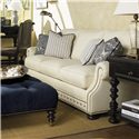 Tommy Bahama Home Kingstown Osbourne Sofa with Nail Head Trim - Shown with Victoria Cocktail Ottoman