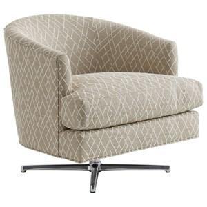 Lexington Zavala Graves Swivel Chair (Polished Chrome)