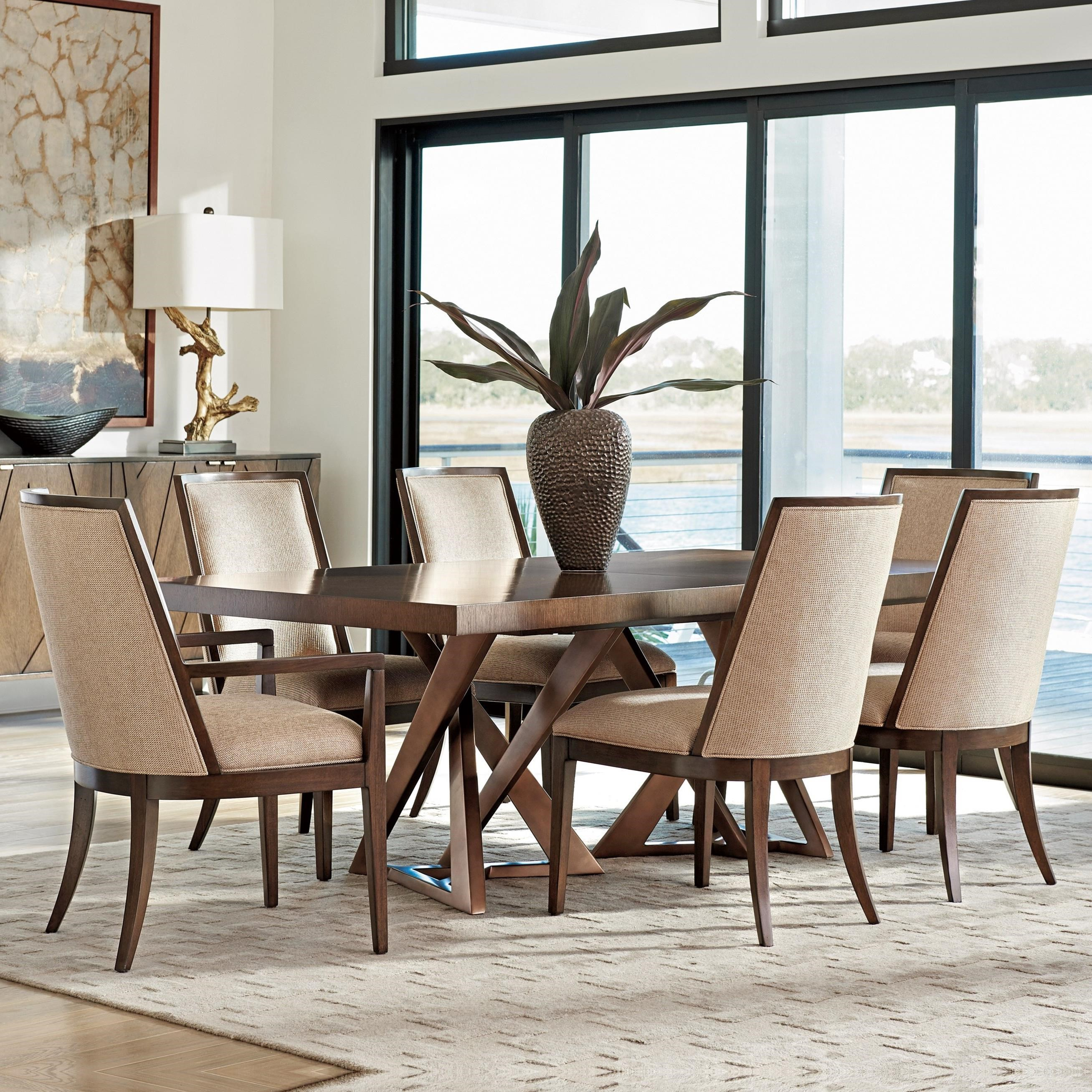 Lexington Zavala 7 Pc Dining Set - Item Number: 790-876C+4X790-880-01+2X790-881-01