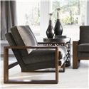 Lexington 11 South Axis Chair with Exposed Wood - Shown with Sculptura Accent Table