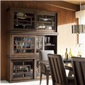 Lexington 11 South Three Piece Synergy Stacking Unit - Shown with Innova Side and Arm Chair and Pinnacle Dining Table