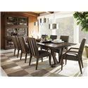 Lexington 11 South Three Piece Synergy Stacking Unit - Shown with Innova Side and Arm Chair, and Pinnacle Dining Table