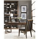 Lexington 11 South Two Unit Synergy Stacking Hutch - Shown with Journalist Writing Desk and Innova Side Chair