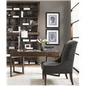 Lexington 11 South Two Unit Synergy Stacking Hutch - Shown with Journalist Writing Desk and Mode Dining Chair