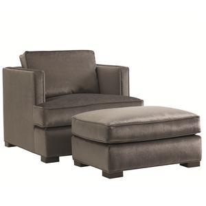 Lexington 11 South Fillmore Chair and Ottoman