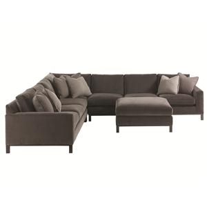 Lexington 11 South 4-Piece Chronicle Sectional & Ottoman