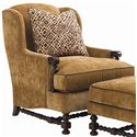 Lexington Fieldale Lodge Brandbury Wing Chair & Ottoman Combination - Bradington Wing Chair