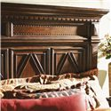 Lexington Fieldale Lodge California King-Size Pine Lakes Bed Detailed with Molding Patterns & Nailhead Trim - Headboard Detail