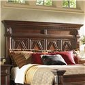 Lexington Fieldale Lodge King/California King-Size Pine Lakes Headboard with Diamond Motif & Decorative Nailhead Trim - Headboard Shown May Not Represent Size Indicated