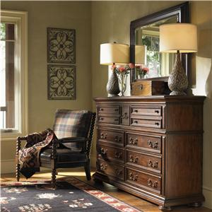 Lexington Fieldale Lodge Prescott Dresser & Lakeview Mirror Combo