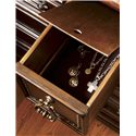 Lexington Fieldale Lodge Prescott Nine-Drawer Dresser with Nailhead Trim - The Hidden Compartment in the Center Drawer is Felt-Lined for Storing Items of Value