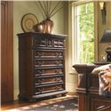 Lexington Fieldale Lodge Cypress Eight-Drawer Chest with Classic Bun Feet & Custom Hardware