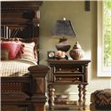 Lexington Fieldale Lodge Castle Pines Nightstand with Two Drawers & One Shelf - Shown with Pine Lakes Bed