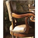 Lexington Fieldale Lodge Pinnacle Leather Upholstered Counter Height Stool - Side View