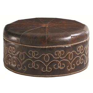 Lexington Florentino Giardini Leather Ottoman
