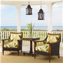Tommy Bahama Home Island Estate Agave Wicker Chair - Shown with Cinnamon Cove Lamp Table