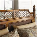 Tommy Bahama Home Island Estate California King-Size West Indies Canopy Bed - Shown without Metal Canopy Frame - Bed Shown May Not Represent Size Indicated