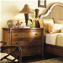 Tommy Bahama Home Island Estate 3 Drawer Barbados Chest - Shown with Round Hill Bed