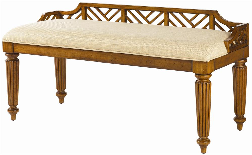 Tommy Bahama Home Island Estate <b>Customizable</b> Plantain Bed Bench - Item Number: 531-536