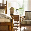 Tommy Bahama Home Island Estate Ginger Island Bedside Chest with Woven Accents - Shown with West Indies Bed & Avalon Chair