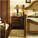 Tommy Bahama Home Island Estate 3 Drawer Barbados Night Stand - Shown with Round Hill Bed