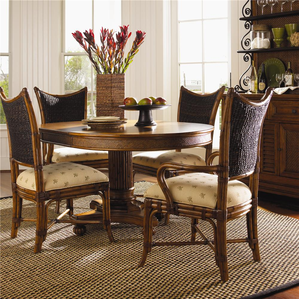 Tommy Bahama Home Island Estate 5 Piece Cayman Kitchen Table Dining Set - Item Number: 531-870+2x881+2x880