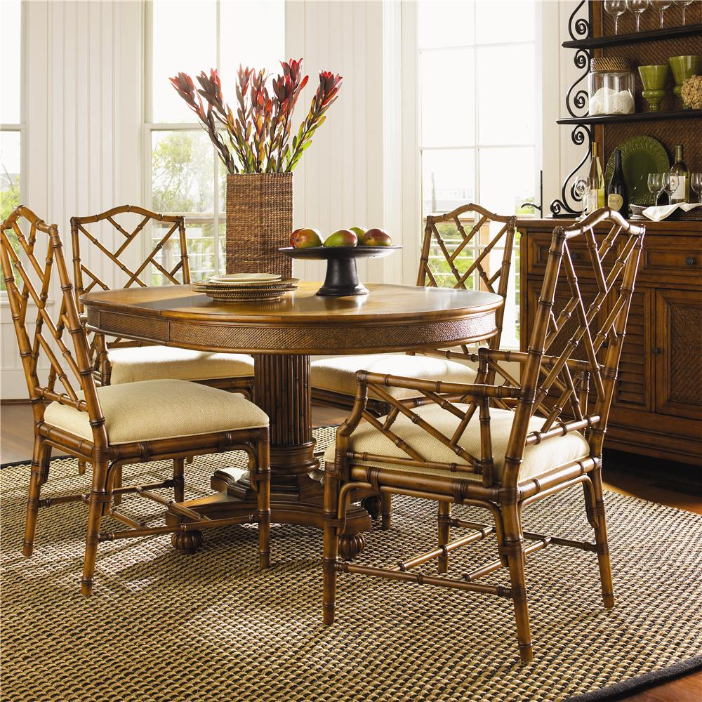 Tommy Bahama Home Island Estate 531 870 2x883 2x882 5 Piece Dining Cayman Table Ceylon Chairs Set Baer S Furniture Dining 5 Piece Sets
