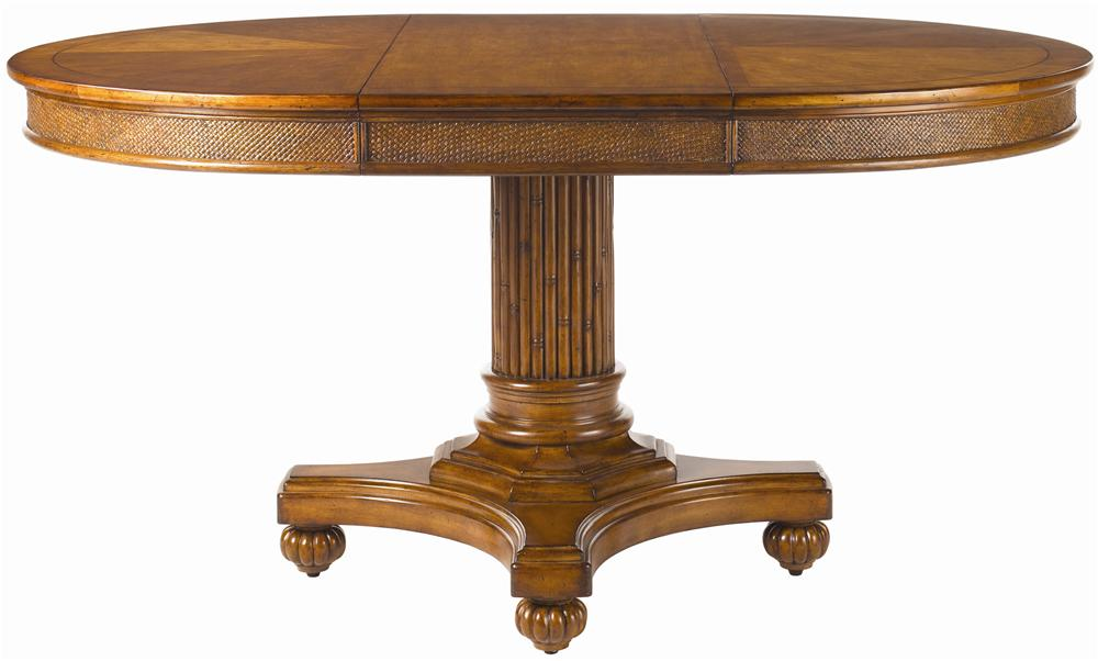 Tommy Bahama Home Island Estate Round Cayman Kitchen Table - Baeru0026#39;s Furniture - Kitchen Tables