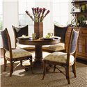 Tommy Bahama Home Island Estate Round Cayman Kitchen Table - Shown with Mangrove Side Chairs - Hutch Shown in Image is No Longer Available by the Manufacturer
