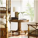 Tommy Bahama Home Island Estate Round Cayman Kitchen Table - Shown with West Indies Bed