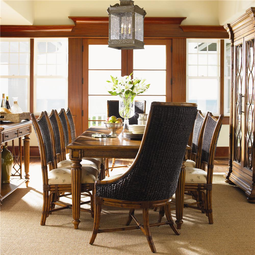 Messina Estates Seven Piece Traditional Dining Table And: Tommy Bahama Home Island Estate 11 Piece Grenadine