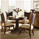 Tommy Bahama Home Island Estate Mangrove Woven Abaca Back Side Chair - Shown with Cayman Kitchen Table