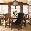 Tommy Bahama Home Island Estate Mangrove Woven Abaca Back Side Chair - Shown with Cruz Bay Host Chair & Grenadine Rectangular Dining Table