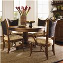 Tommy Bahama Home Island Estate Mangrove Woven Abaca Back Arm Chair - Shown with Side Chairs & Cayman Kitchen Table
