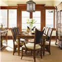 Tommy Bahama Home Island Estate Mangrove Woven Abaca Back Arm Chair - Shown with Side Chairs & Grenadine Rectangular Dining Table
