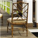 Tommy Bahama Home Island Estate <b>Quick Ship</b> Ceylon Side Chair with Rattan Frame - Rattan Frame Back