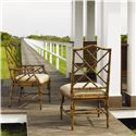 Tommy Bahama Home Island Estate <b>Quick Ship</b> Ceylon Side Chair with Rattan Frame - Shown with Arm Chair