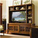Tommy Bahama Home Island Estate Nevis Media Console & Hutch Entertainment Unit