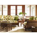 Tommy Bahama Home Island Estate Key Largo End Table - Shown with Key Largo Cocktail Table & Hamilton Sofa & Chair