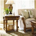 Tommy Bahama Home Island Estate 1 Drawer Boca End Table - Shown with West Shore Sofa