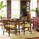 Tommy Bahama Home Island Estate <b>Quick Ship</b> Samba Dining Game Chair with Casters - Shown with Samba Game Table
