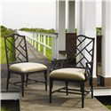 Tommy Bahama Home Island Estate <b>Customizable</b> Ceylon Side Chair with Rattan Frame - Shown with Arm Chair