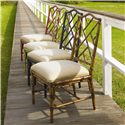 Tommy Bahama Home Island Estate <b>Customizable</b> Ceylon Side Chair with Rattan Frame - Shown in Plantation, Noche, Cilantro &amp; Sangria Finishes