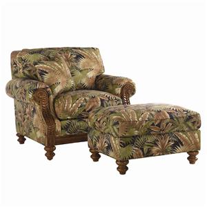 Tommy Bahama Home Island Estate West Shore Chair & Ottoman