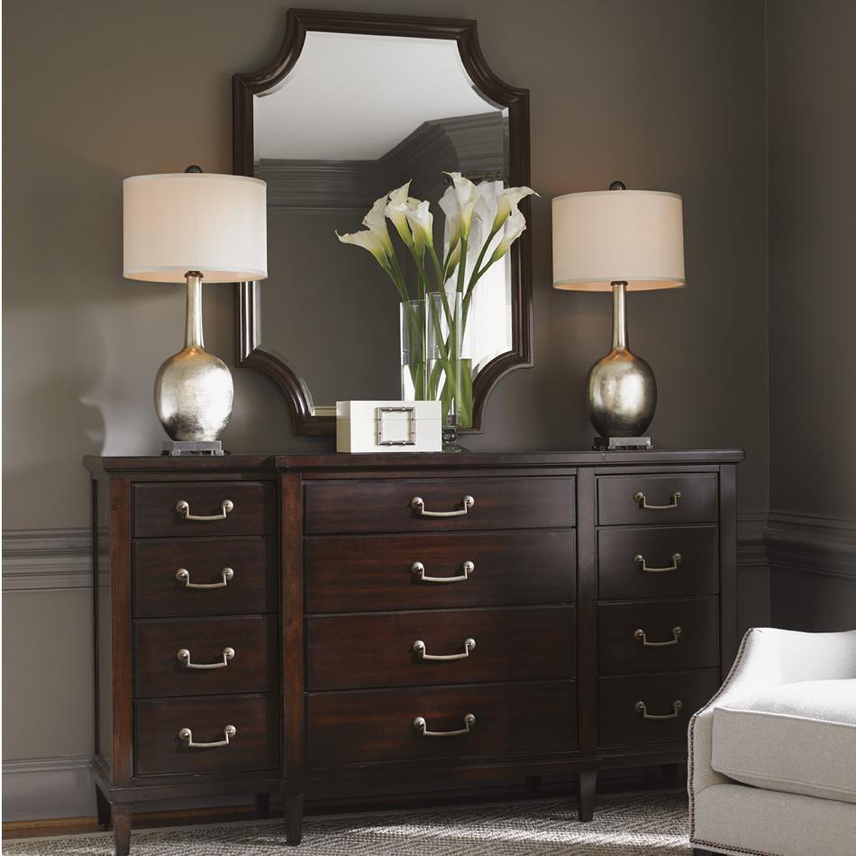 Kensington Place Baldwin Dresser and Catalina Mirror Set by Lexington at Johnny Janosik