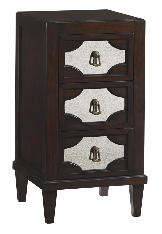Lexington Kensington Place Transitional Lucerne Mirrored Nightstand With Three Drawers Belfort Furniture Nightstands
