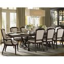 Lexington Kensington Place Eleven Piece Dining Set with Customizable Fabric Chairs - Chairs Shown in Odessa Fabric