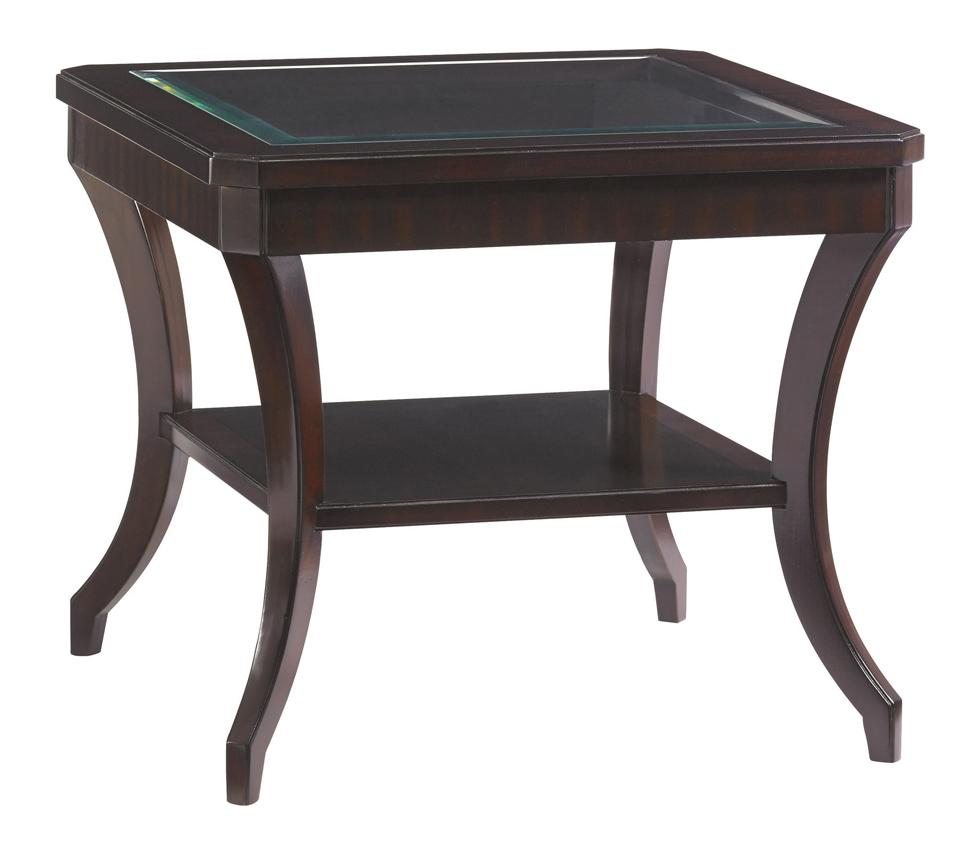 Lexington Kensington Place Transitional Hillcrest Lamp Table With Beveled Glass Top Jacksonville Furniture Mart End Tables