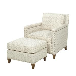Lexington Lexington Upholstery Chase Chair and Ottoman