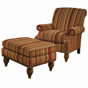 Lexington Lexington Upholstery Wallace Chair and Ottoman